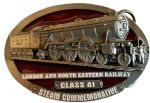 L.N.E.R. A1 Flying Scotsman Steam Train Belt Buckle with display stand. Code TA1